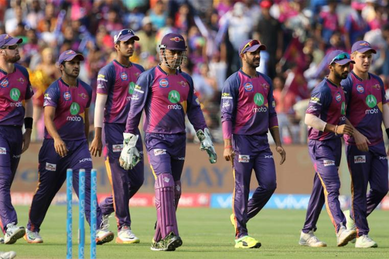 RPS players walk-off the pitch after dismissing KXIP for 73. (BCCI Photo)