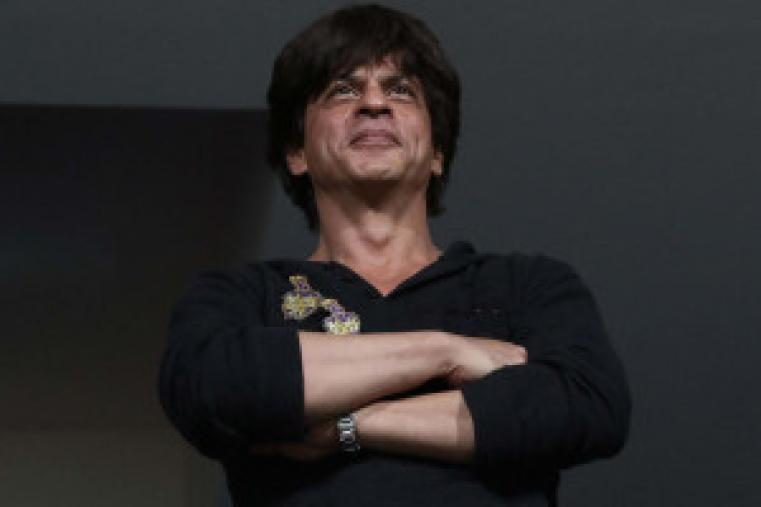 KKR owner Shahrukh Khan looks at the game in progress (BCCI Photo)