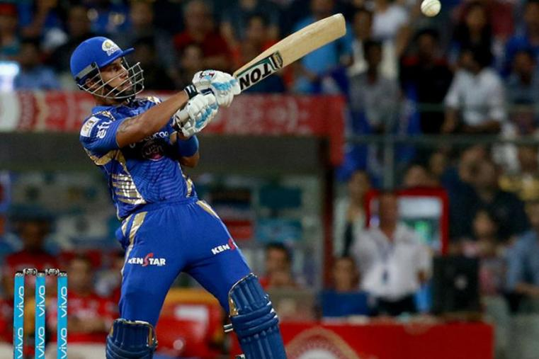 Lendl Simmons plays a shot during the match against KXIP. (BCCI)