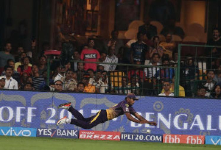 Umesh Yadav's  diving effort goes in vain  (BCCI Photo)