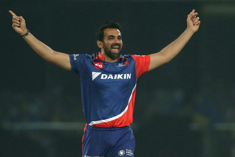 Zaheer Khan reacts after dismissing Ajinkya Rahane on the first ball of the over. (BCCI)