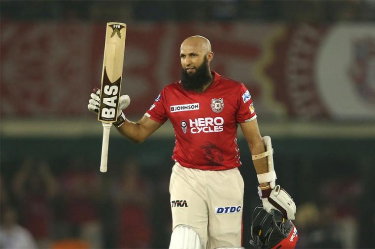 Hashim Amla played a brilliant knock to notch up his second century and power Kings XI Punjab to a challenging 189 for three. (BCCI Photo)