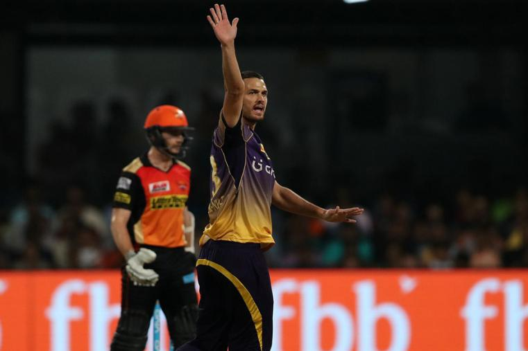 Nathan Coulter-Nile appeals during the match against SRH. (BCCI Photo)