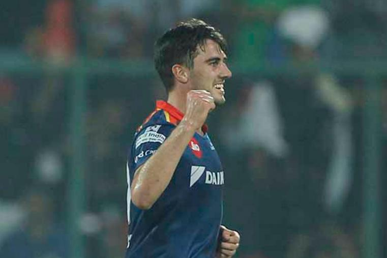 Pat Cummins reacts after dismissing Manoj Tiwary. (BCCI)