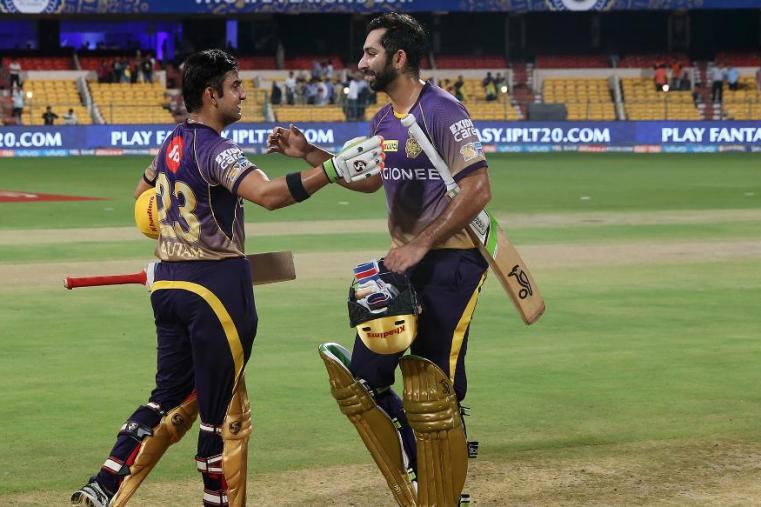 Gautam Gambhir celebrates after win over SRH. (BCCI Photo)