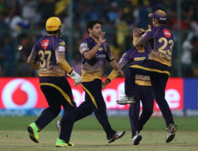 Piyush Chawla celebrates Rayadu's wicket  (BCCI Photo)