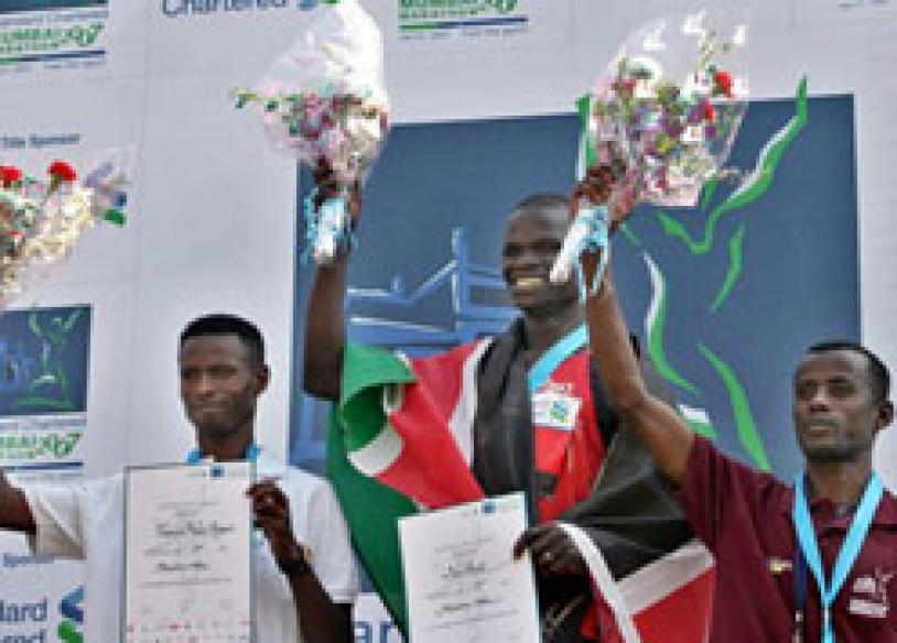 Africans sweep Mumbai marathon