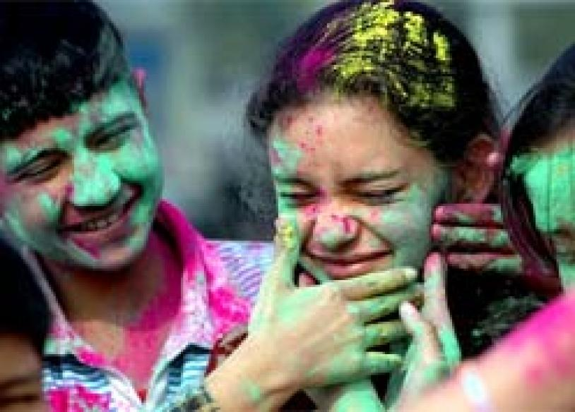 India on a high amid riot of colours