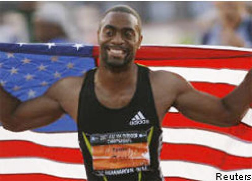 Gay wins 100m in year's fastest