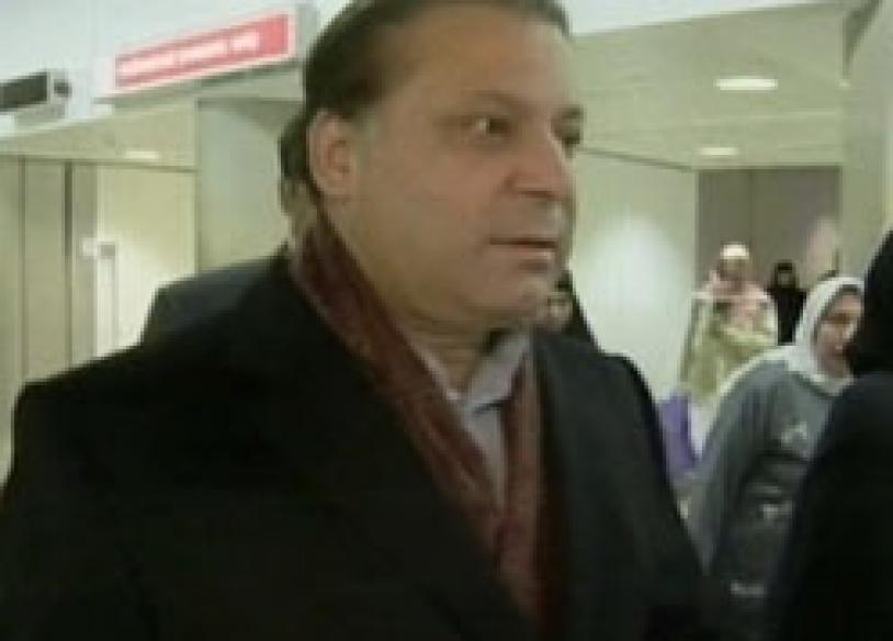 Happy homecoming for Sharif, set to file nominations