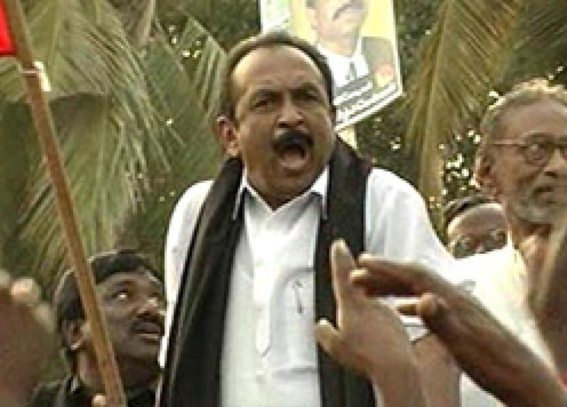 Vaiko arrested for flouting Karuna's rally ban