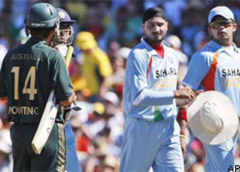 After Hayden, Harbhajan takes on Ponting