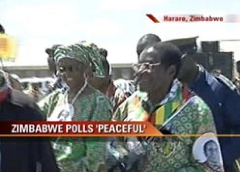 Zimbabwe's hotly-contested Prez polls peaceful