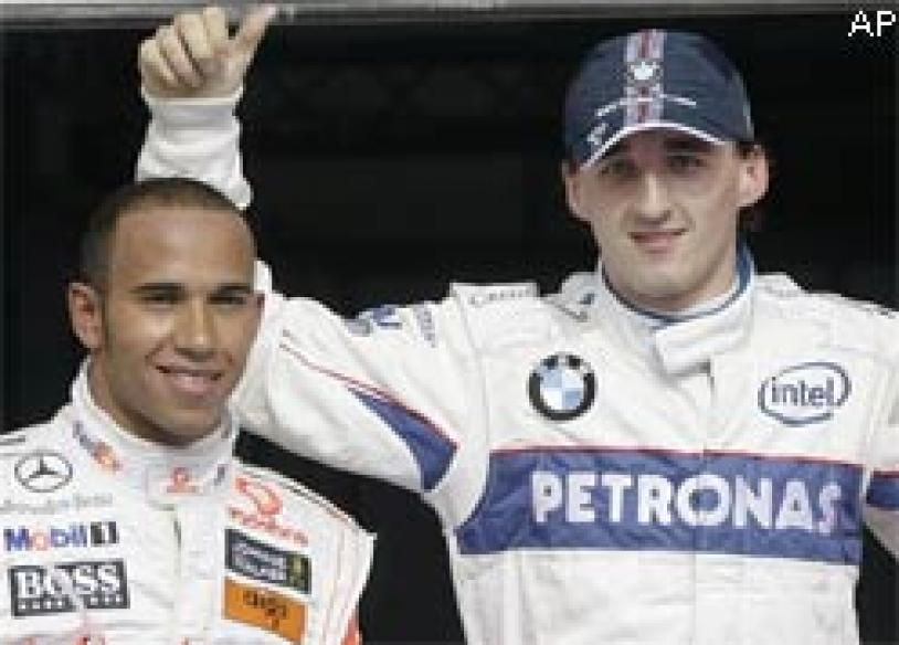 BMW Sauber's Kubica claims pole at Bahrain GP