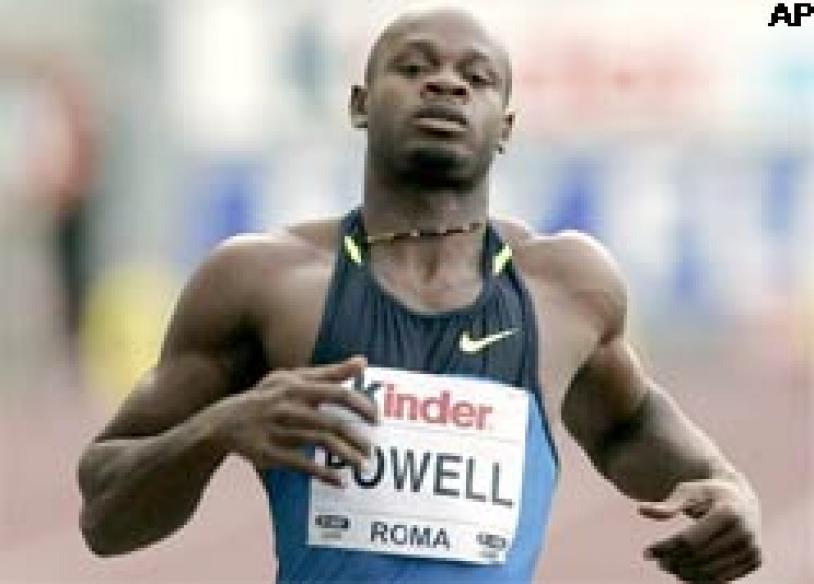 Powell leaves Bolt behind in 100m showdown