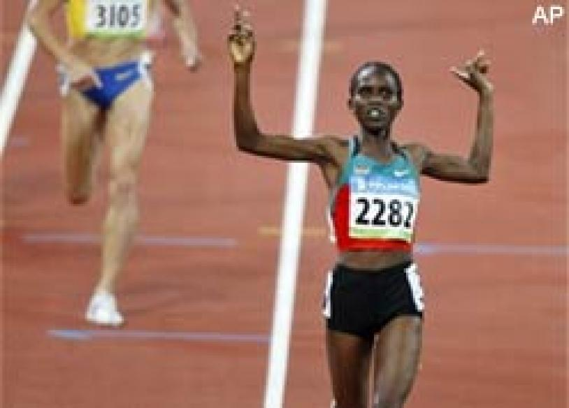 Kenya's Langat leaves favourites behind, wins 1500m crown