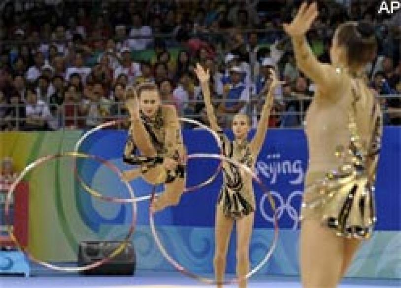 Russia rules rhythmic gymnastics, China second