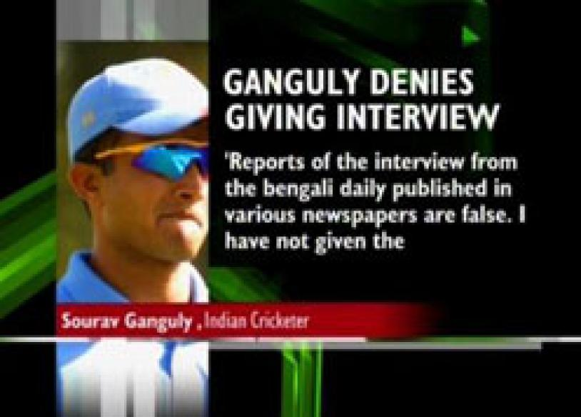 Ganguly on backfoot, denies controversial interview