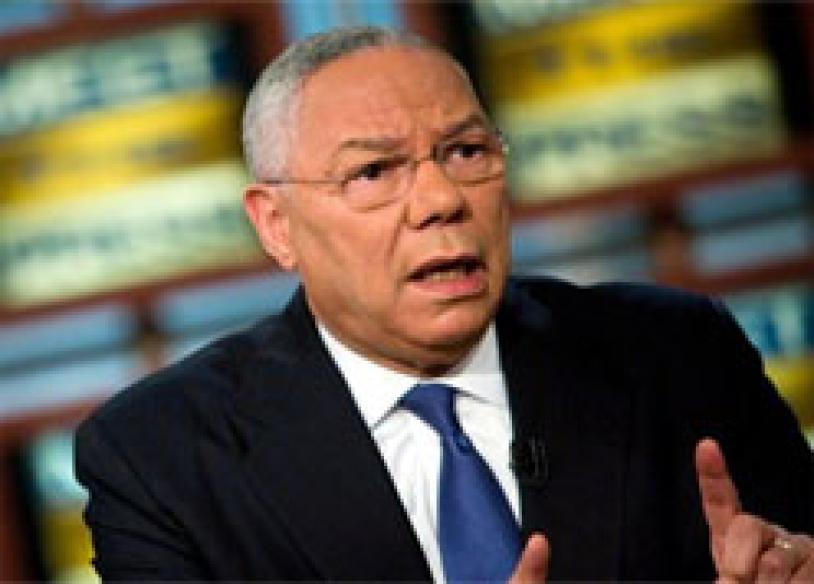 Bush's man Powell says will vote for Obama