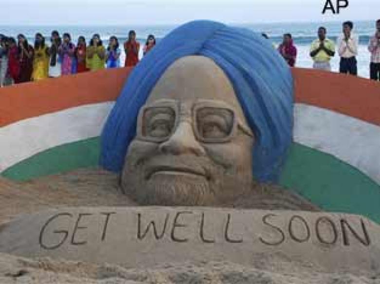 PM's lookalike walks into AIIMS to wish him well