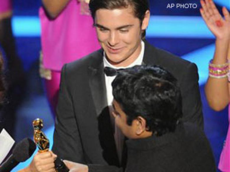 Happy Rahman thanks mother, God at Oscars gala
