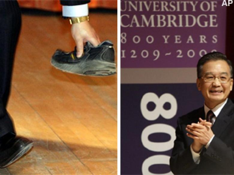After Bush, shoe-cide attack on Chinese Premier