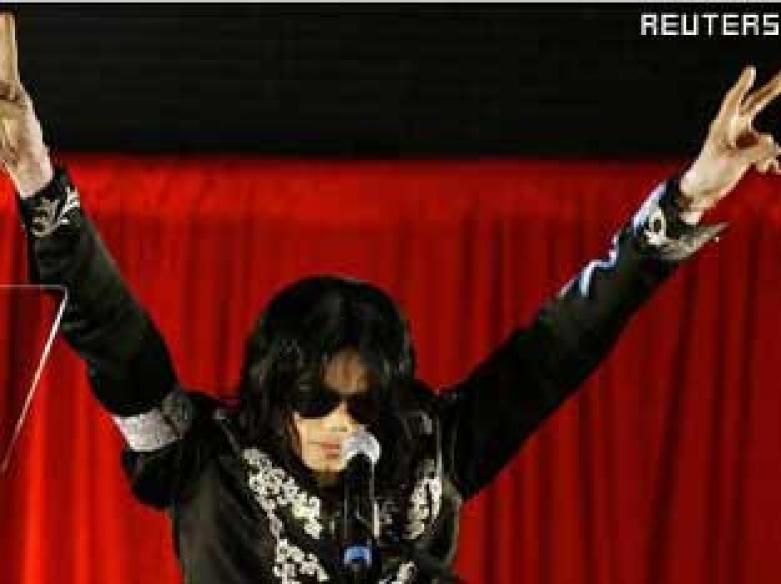 Michael Jackson re-learning his signature Moonwalk