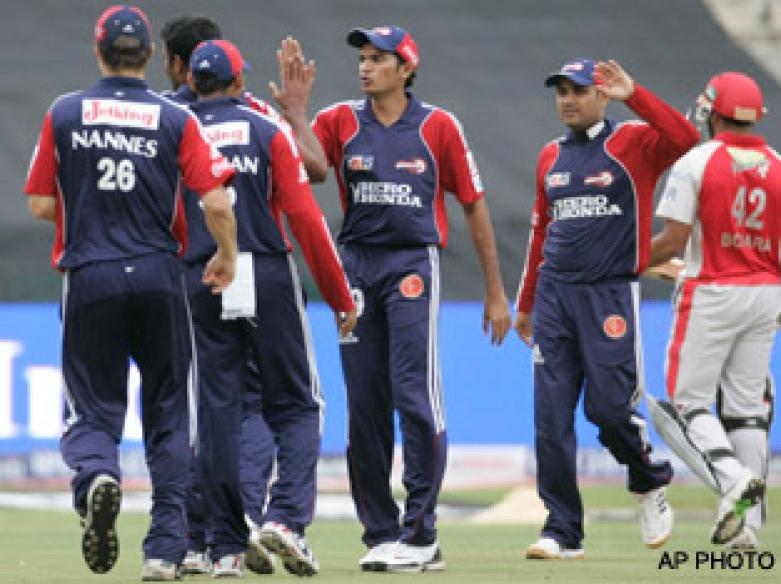 <a href='http://cricketnext.in.com/news/nannes-back-in-as-delhi-elect-to-bat/40943-27.html'>IPL: Delhi register easy win over Royals</a> | <a href='http://cricketnext.in.com/scorecard/match/full/rrdd1705.html'>Score</a>