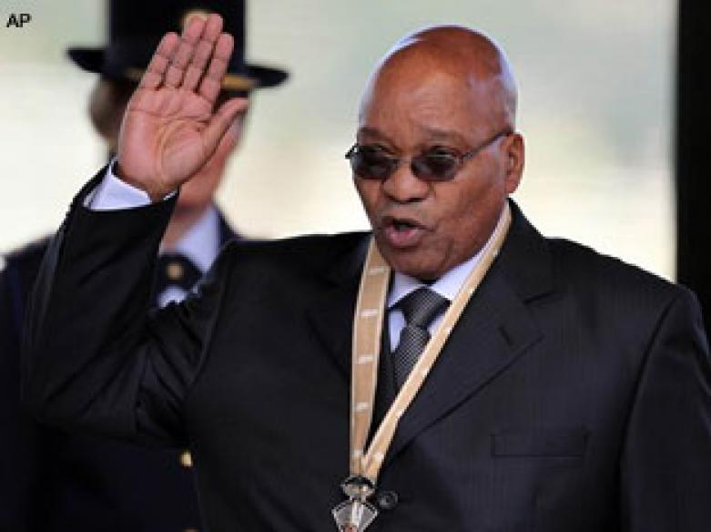 Jacob Zuma sworn in as South African president