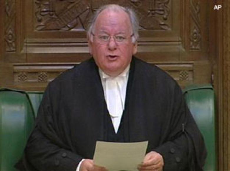 British speaker resigns over expenses row