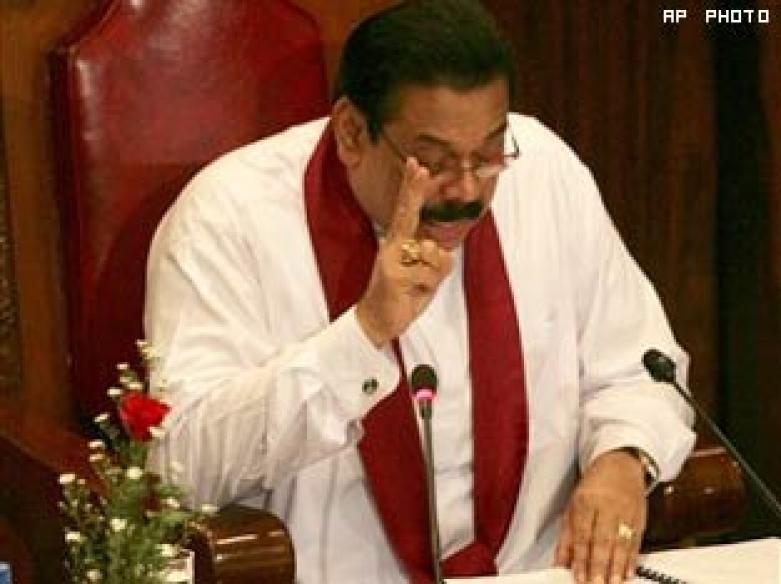 Rajapaksa makes victory speech, hails LTTE defeat