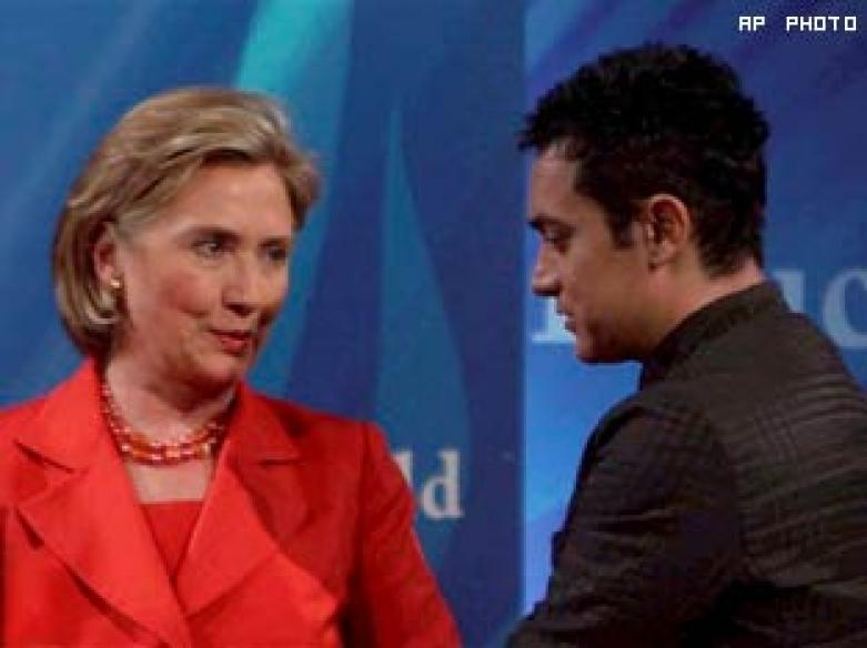 Hillary, Aamir discuss education at St Xavier's