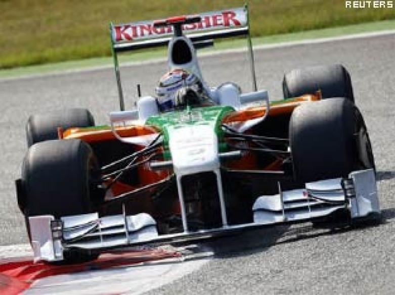 Force India's Sutil fastest in practice at Monza