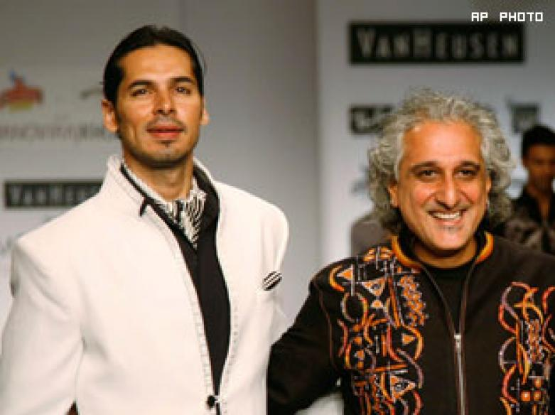 Aftab, Dino dazzle at men's fashion week