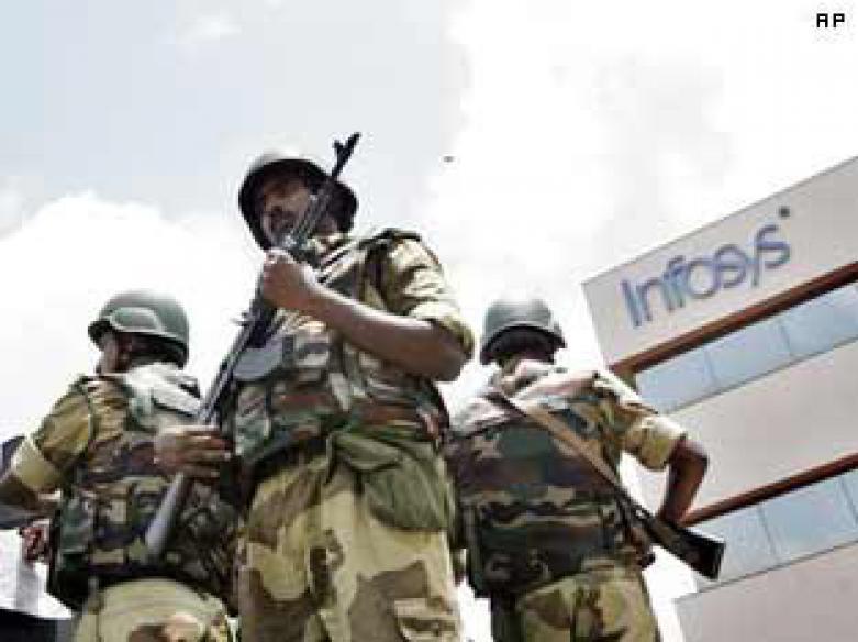 IT firms follow Infosys, step up paramilitary security