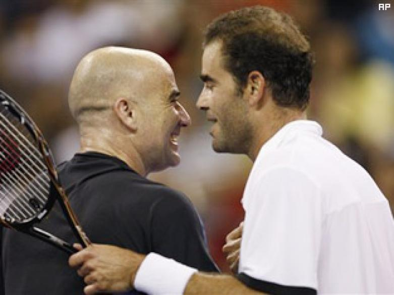 Legends clash, Sampras beats Agassi, tennis rejoices