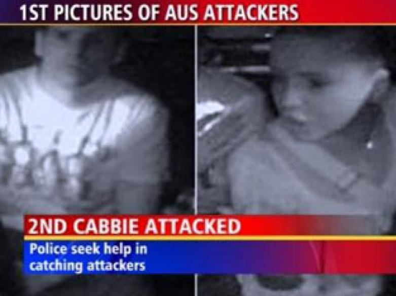 Couple who attacked Indian cabbie caught on camera
