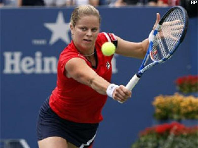 Clijsters sets up Henin final in Brisbane