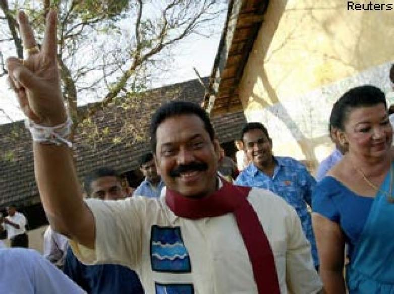 SL President Rajapaksa wins second term in office