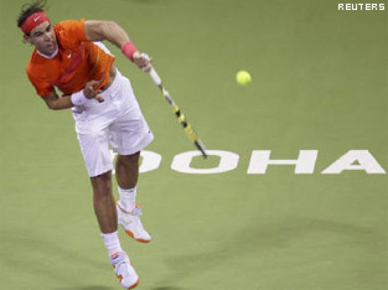 Federer and Nadal stay on course for Doha final