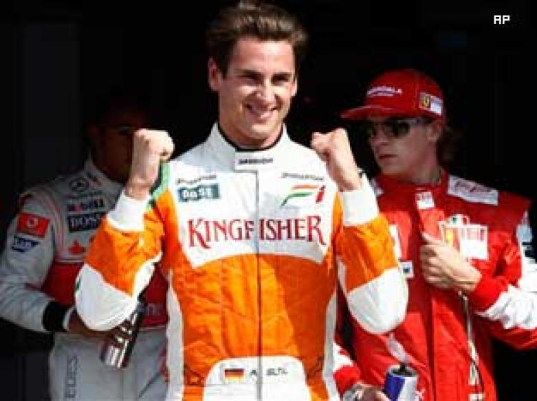 Adranil Sutil seventh fastest on day 3