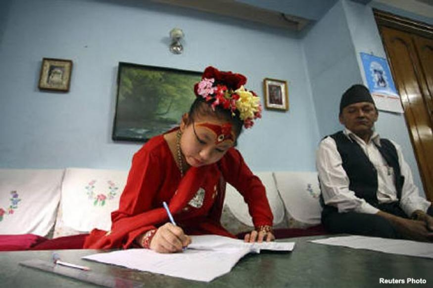 Nepal living goddess eyes a banking career
