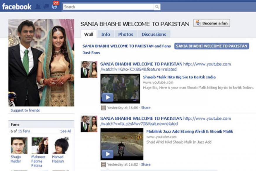 Pakistanis welcome 'Sania Bhabhi' on Facebook