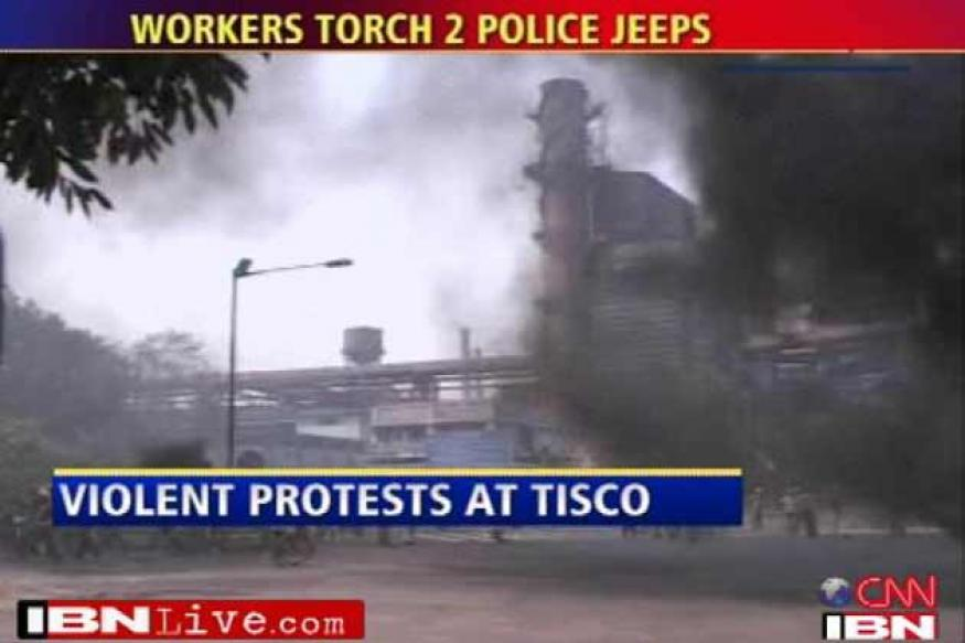 8 injured in worker-police clash at Tata Steel