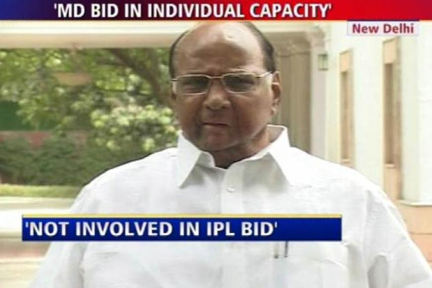 Pawar denies bidding for IPL team
