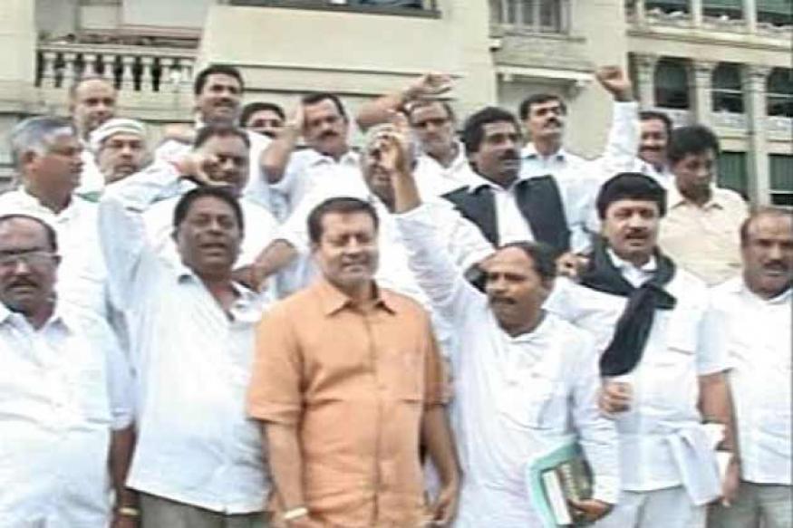 Congress' Bellary march against Reddys begins