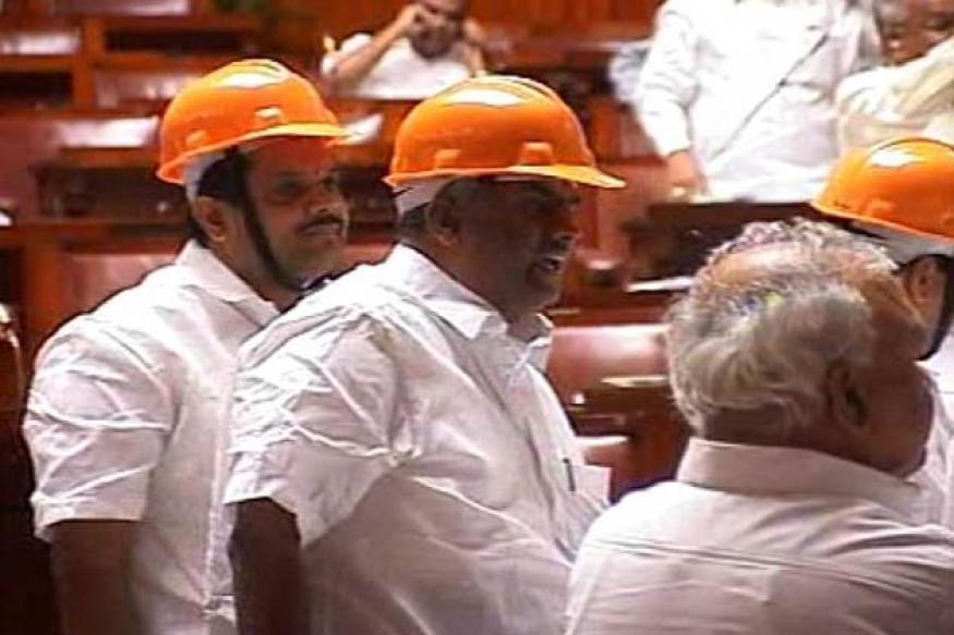 K'taka Opposition MLAs spend night in Assembly