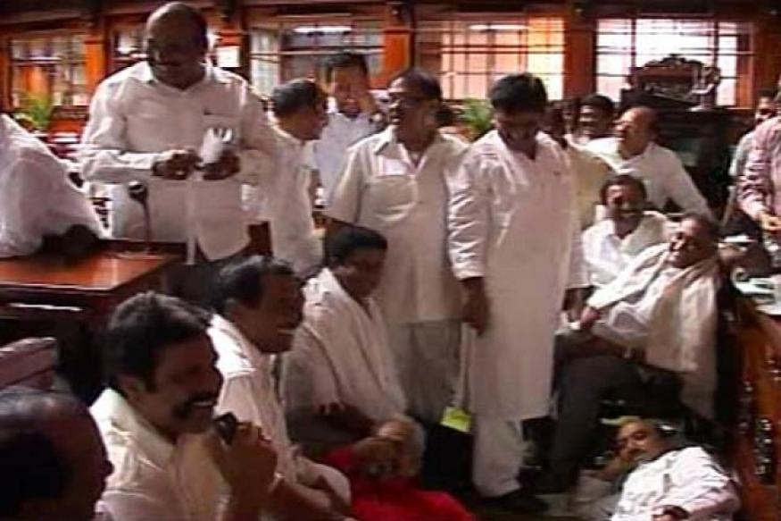 K'taka Opposition MLAs spent 2nd night in Assembly