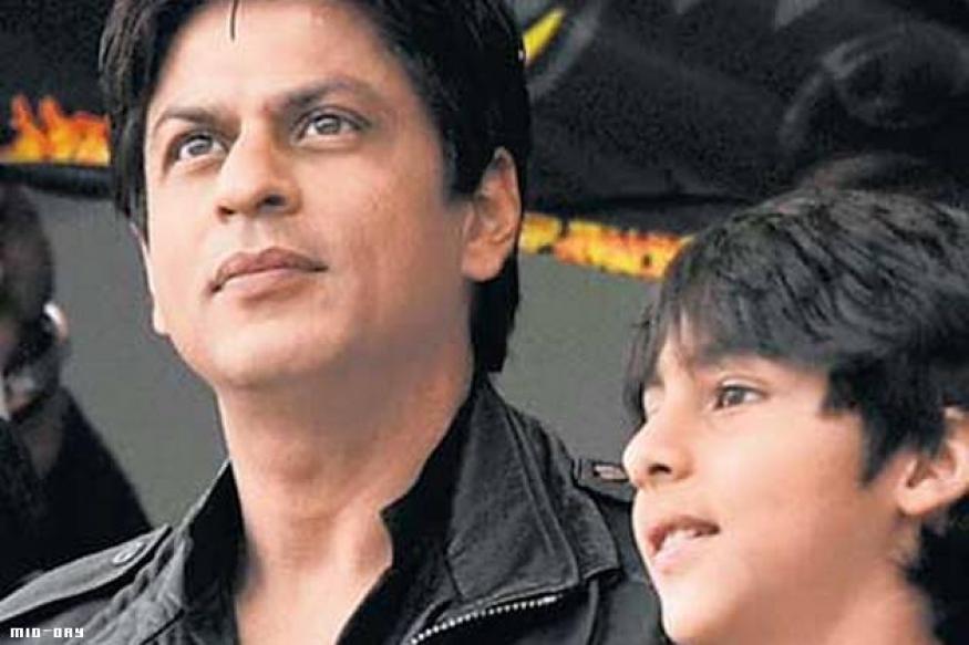 Shah Rukh Khan and son Aryan in a film