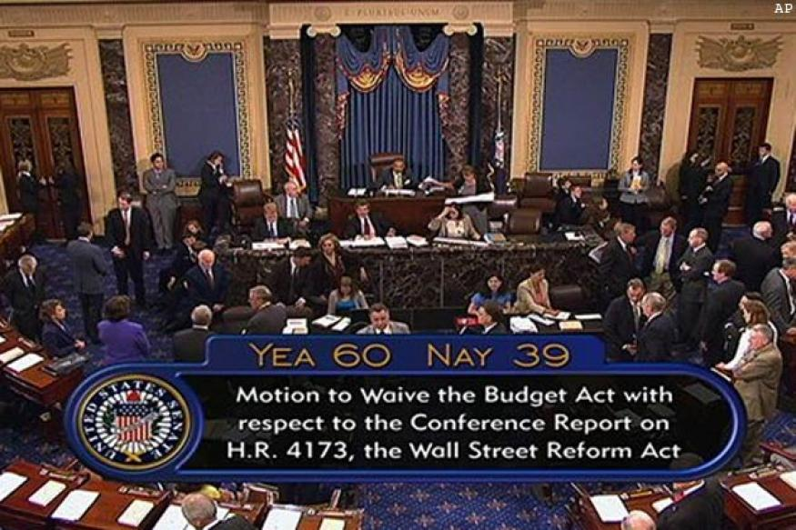 US Senate passes Wall Street Reform Bill